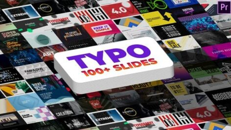 101 تایتل آماده پریمیر رزولوشن 4K حرفه ای Typography MOGRTs