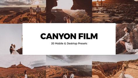 20 پریست لایت روم و لات رنگی سینمایی و پریست کمرا راو فتوشاپ Canyon Film Lightroom Presets