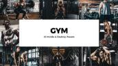 20 پریست لایت روم و لات رنگی ورزشی و پریست کمرا راو فتوشاپ Gym Lightroom Presets & LUTs