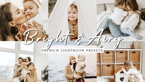 24 پریست لایت روم حرفه ای تم روشنایی طبیعی Bright Natural Lightroom Presets