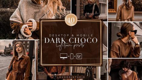 30 پریست رنگی لایت روم حرفه ای تم شکلات تیره DARK CHOCO Lightroom Presets