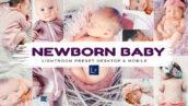 30 پریست لایت روم نوزاد و پریست کمرا راو Newborn Baby Lightroom Presets