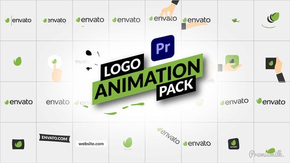 32 پروژه آماده پریمیر لوگو 2021 رزولوشن 4K حرفه ای Logo Animation Pack for Premiere Pro