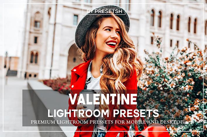 36 پریست لایت روم و پریست فتوشاپ تم ولنتاین valentine's day lightroom presets