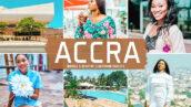 40 پریست لایت روم و پریست کمرا راو و اکشن فتوشاپ تم اکرا Accra Lightroom Presets