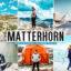 40 پریست لایت روم و کمرا راو و اکشن فتوشاپ تم ماترهورن Matterhorn Lightroom Presets