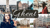 40 پریست لایت روم و کمرا راو و اکشن فتوشاپ تم گنت بلژیک Ghent Lightroom Presets