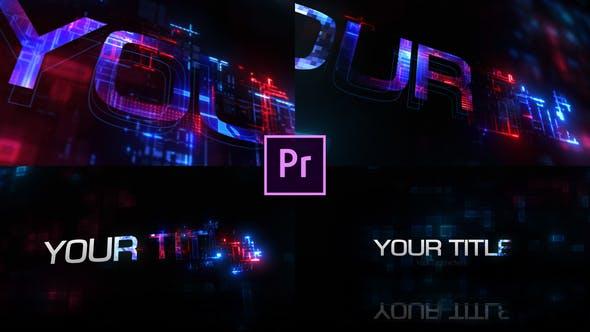 تایتل آماده پریمیر 3 بعدی رزولوشن 4K با موزیک 3D Tech Title