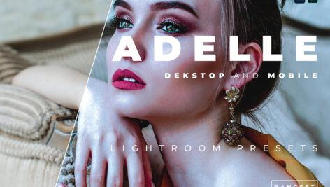 خرید 20 پریست لایت روم پرتره دسکتاپ و موبایل Adelle Lightroom Preset