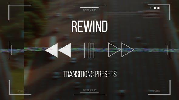 دانلود ترنزیشن حرفه ای پریمیر افکت برگشت فیلم Rewind Transitions presets