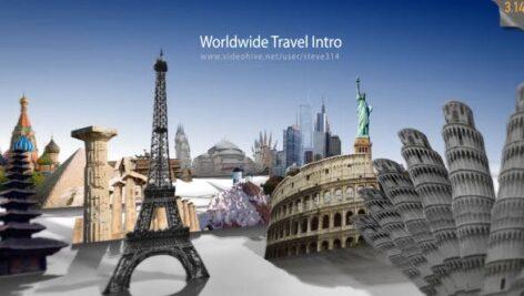 پروژه آماده افتر افکت با موزیک تبلیغ آژانس مسافرتی Worldwide Travel Intro Show