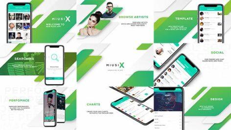 پروژه آماده افتر افکت حرفه ای 2021 با موزیک معرفی برنامه موبایل App Promo