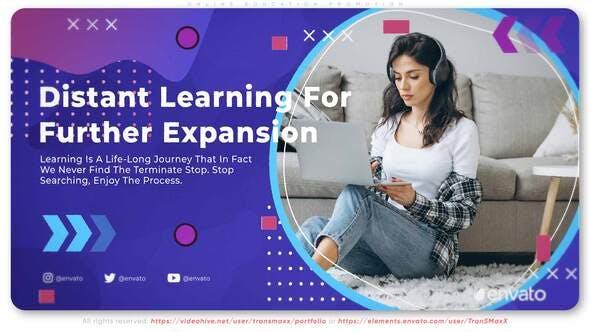 پروژه آماده افتر افکت معرفی دوره های آنلاین آموزشی Online Education Promotion