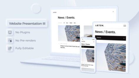 پروژه آماده افتر افکت معرفی شرکت های طراحی سایت Website Presentation III Neomorphism