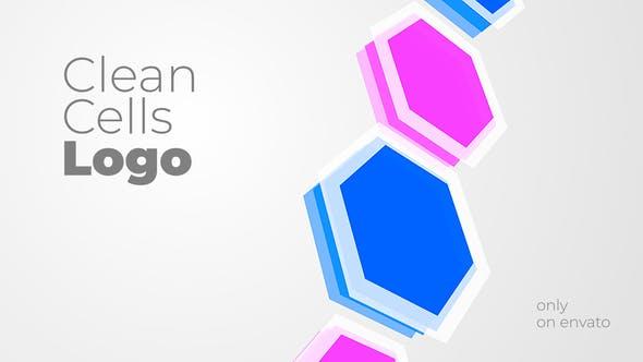 پروژه آماده افتر افکت نمایش لوگو با موزیک افکت سلولی Clean Cells Logo