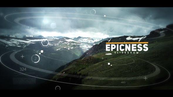 پروژه آماده افتر افکت 2021 با موزیک اسلایدشو سینمایی Cinematic Slideshow