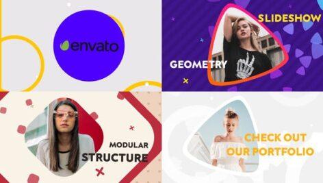 پروژه آماده پریمیر اسلایدشو با موزیک اشکال هندسی Geometric Slideshow Premiere Pro MOGRT