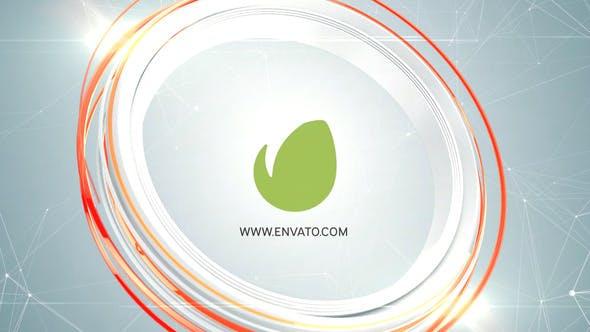 پروژه آماده پریمیر لوگو 2021 با موزیک افکت دایره رنگی Abstract Circles Logo