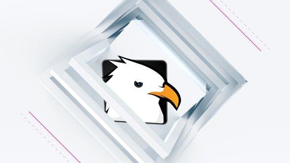پروژه آماده پریمیر لوگو 2021 با موزیک افکت مربعی Clean Square Logo