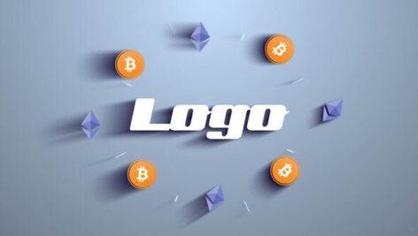 پروژه افتر افکت لوگو با موزیک تبلیغ ماینینگ بیتکوین Bitcoin Crypto Mining Logo
