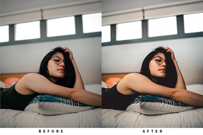10 پریست رنگی لایت روم رنگ سینماتیک حرفه ای Clean Film Lightroom Presets