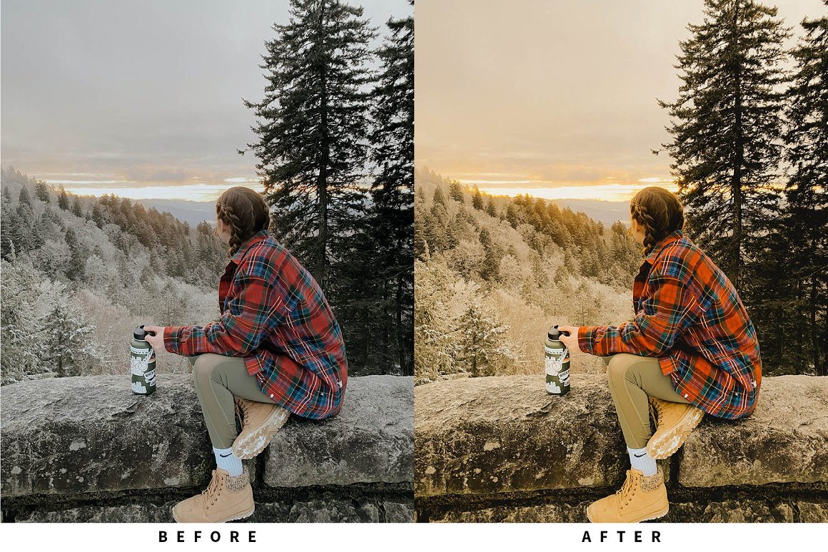 10 پریست رنگی لایت روم رنگ سینماتیک Warm Film Lightroom Presets