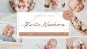 12 پریست لایت روم نوزاد تم نوزاد روستایی Rustic Newborn Lightroom Presets