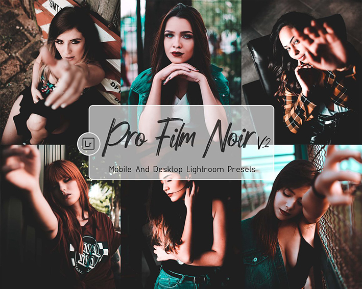 21 پریست لایت روم سینمایی 2021 حرفه ای Pro Film Noir Desktop& Mobile LR