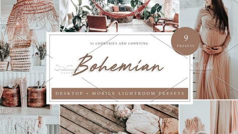 27 پریست رنگی لایت روم 2021 حرفه ای Bohemian Lightroom Presets