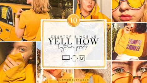 30 پریست لایت روم حرفه ای تم رنگی زرد YELL HOW Lightroom Presets