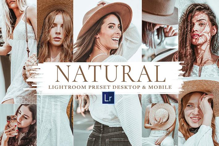 30 پریست لایت روم حرفه ای تم رنگ طبیعی Natural Mobile & Lightroom Preset