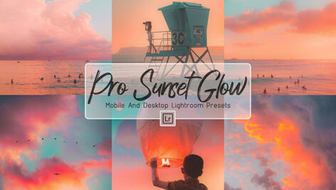 30 پریست لایت روم حرفه ای تم غروب آفتاب ProSunset Glow Mobile & Lightroom