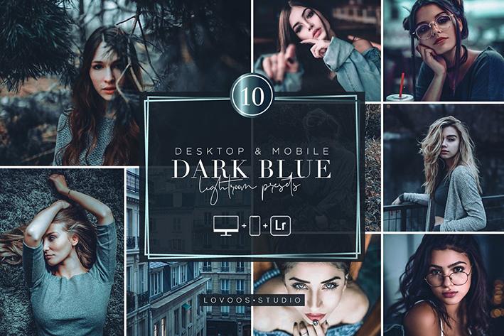 30 پریست لایت روم حرفه ای سینمایی تم آبی تیره DARK BLUE Lightroom Presets
