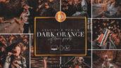 30 پریست لایت روم پاییز حرفه ای تم نارنجی تیره DARK ORANGE Lightroom Presets