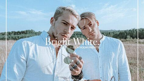30 پریست لایت روم پرتره تم رنگی سفید درخشان BRIGHT WHITE LIGHTROOM PRESETS