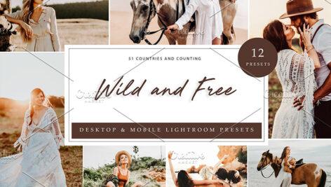 36 پریست لایت روم حرفه ای تم رها و آزاد Wild And Free Lightroom Presets