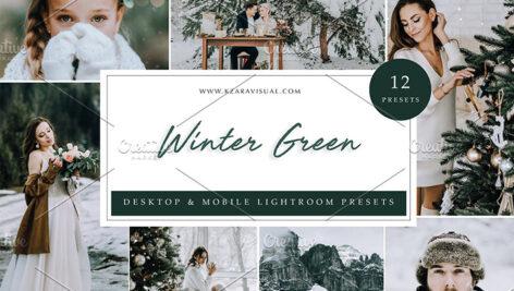 36 پریست لایت روم زمستان تم زمستان سبز Winter Green Lightroom Presets