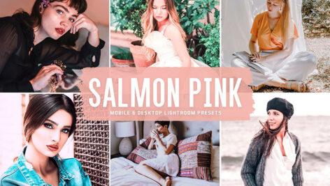 40 پریست لایت روم و پریست کمرا راو و اکشن فتوشاپ تم صورتی Salmon Pink Lightroom Presets
