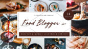 42 پریست رنگی لایت روم حرفه ای مواد غذایی Food Blogger Lightroom Presets