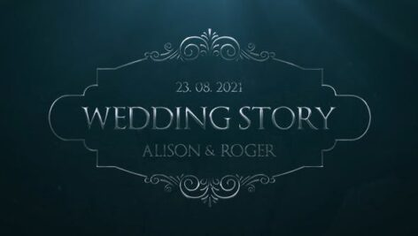 تایتل آماده پریمیر پرو 2021 عروسی تم نقره ای Silver Wedding Titles
