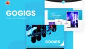 قالب پاورپوینت حرفه ای تجارت و شرکتی Gogigs Music Event Powerpoint Template
