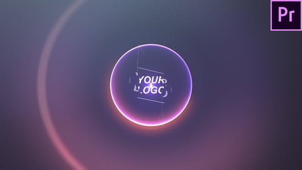 پروژه آماده پریمیر لوگو 2021 با موزیک افکت نورانی Colorful Bling Logo