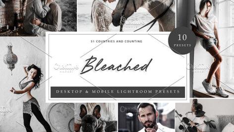 پریست لایت روم سینمایی حرفه ای تم نقره ای Bleached Lightroom Presets