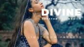 پریست لایت روم سینمایی حرفه ای 20 تایی Divine Lightroom Preset