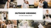 پریست لایت روم عروسی و پریست کمرا راو فتوشاپ و لات رنگی Outdoor Wedding Lightroom Presets