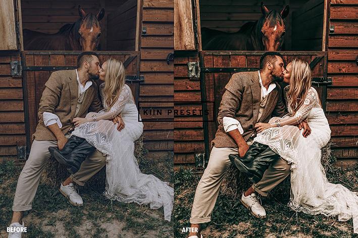 پریست لایت روم عکس عروسی تم عشق روستایی RUSTIC BOHO LIGHTROOM PRESETS