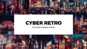 پریست لایت روم و پریست کمرا راو فتوشاپ و لات رنگی Cyber Retro Lightroom Presets