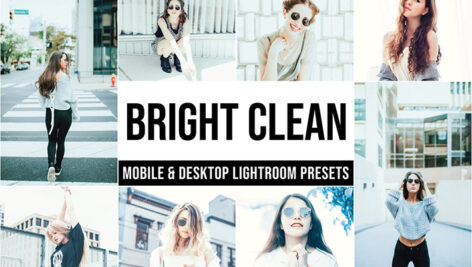 20 پریست تم روشن حرفه ای لایت روم Bright Clean Lightroom Presets