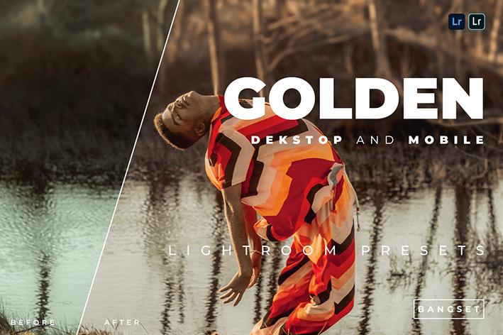20 پریست رنگی لایت روم حرفه ای تم طلایی Golden Lightroom Preset