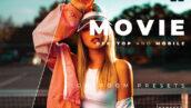 20 پریست رنگی لایت روم حرفه ای تم فیلم Movie Lightroom Preset